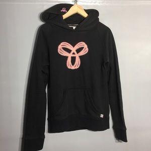 Tna black/ pink logo hoodie